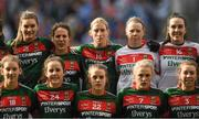 24 September 2017; Cora Staunton of Mayo stands with her team-mates during the team photo prior to the TG4 Ladies Football All-Ireland Senior Championship Final match between Dublin and Mayo at Croke Park in Dublin. Photo by Brendan Moran/Sportsfile