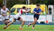 23 September 2017; Max O'Reilly of Leinster in action against David McCann of Ulster during the under 18 schools interprovincial match between Leinster and Ulster at Donnybrook Stadium in Dublin. Photo by Ramsey Cardy/Sportsfile