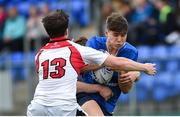 23 September 2017; Max O'Reilly of Leinster is tackled by Ben Power of Ulster during the under 18 schools interprovincial match between Leinster and Ulster at Donnybrook Stadium in Dublin. Photo by Ramsey Cardy/Sportsfile