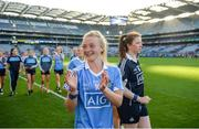 24 September 2017; Carla Rowe of Dublin following the TG4 Ladies Football All-Ireland Senior Championship Final match between Dublin and Mayo at Croke Park in Dublin. Photo by Cody Glenn/Sportsfile