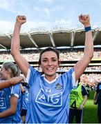 24 September 2017; Niamh McEvoy of Dublin celebrates following the TG4 Ladies Football All-Ireland Senior Championship Final match between Dublin and Mayo at Croke Park in Dublin. Photo by Cody Glenn/Sportsfile