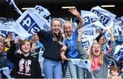 24 September 2017; Dublin supporters during the TG4 Ladies Football All-Ireland Senior Championship Final match between Dublin and Mayo at Croke Park in Dublin. Photo by Cody Glenn/Sportsfile