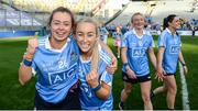 24 September 2017; Kate Fitzgibbon, left, and Aoife Curran of Dublin following the TG4 Ladies Football All-Ireland Senior Championship Final match between Dublin and Mayo at Croke Park in Dublin. Photo by Cody Glenn/Sportsfile