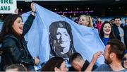 24 September 2017; Supporters of Dublin's Sinéad Finnegan following the TG4 Ladies Football All-Ireland Senior Championship Final match between Dublin and Mayo at Croke Park in Dublin. Photo by Cody Glenn/Sportsfile