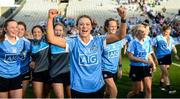 24 September 2017; Laura McGinley of Dublin following the TG4 Ladies Football All-Ireland Senior Championship Final match between Dublin and Mayo at Croke Park in Dublin. Photo by Cody Glenn/Sportsfile
