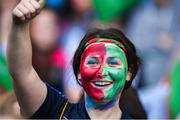 24 September 2017; Mayo supporter during the TG4 Ladies Football All-Ireland Senior Championship Final match between Dublin and Mayo at Croke Park in Dublin. Photo by Cody Glenn/Sportsfile