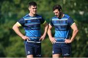 25 September 2017; Jonathan Sexton, left, and Robbie Henshaw of Leinster during squad training at UCD, Belfield, in Dublin. Photo by David Fitzgerald/Sportsfile