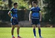 25 September 2017; Jonathan Sexton, right, and Noel Reid of Leinster during squad training at UCD, Belfield, in Dublin. Photo by David Fitzgerald/Sportsfile
