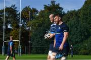 25 September 2017; Sean O'Brien, right, and Devin Toner of Leinster arrive ahead of squad training at UCD, Belfield, in Dublin. Photo by David Fitzgerald/Sportsfile