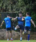 25 September 2017; Robbie Henshaw, centre, Noel Reid, left, and Jonathan Sexton of Leinster during squad training at UCD, Belfield, in Dublin. Photo by David Fitzgerald/Sportsfile