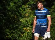 25 September 2017; Jordi Murphy of Leinster arrives ahead of squad training at UCD, Belfield, in Dublin. Photo by David Fitzgerald/Sportsfile