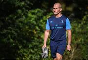25 September 2017; Leinster senior coach Stuart Lancaster arrives ahead of squad training at UCD, Belfield, in Dublin. Photo by David Fitzgerald/Sportsfile