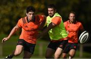 25 September 2017; Alex Wootton of Munster in action against team-mate Duncan Casey during Munster Rugby Squad Training at the University of Limerick in Limerick. Photo by Diarmuid Greene/Sportsfile