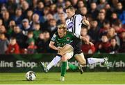 25 September 2017; Conor McCormack of Cork City is tackled by David McMillan of Dundalk during the SSE Airtricity Premier Division match between Cork City and Dundalk at Turners Cross in Cork. Photo by Stephen McCarthy/Sportsfile