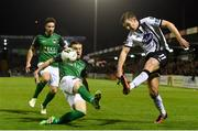 25 September 2017; Patrick McEleney of Dundalk in action against Steven Beattie of Cork City during the SSE Airtricity Premier Division match between Cork City and Dundalk at Turners Cross, in Cork. Photo by Eóin Noonan/Sportsfile