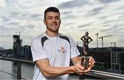 26 September 2017; Mayo's Andy Moran and Waterford's Jamie Barron were confirmed as the PwC GAA/GPA Players of the Month for August in football and hurling. Pictured is Jamie Barron of Waterford after being presented with his PwC GAA/GPA Player of the Month Award at a reception in PwC Offices, Dublin. Photo by Sam Barnes/Sportsfile