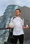 26 September 2017; Mayo's Andy Moran and Waterford's Jamie Barron confirmed as the PwC GAA/GPA Players of the Month for August in football and hurling. Pictured is Andy Moran of Mayo after being presented with his PwC GAA/GPA Player of the Month Award at a reception in PwC Offices, Dublin. Photo by Sam Barnes/Sportsfile
