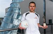 26 September 2017; Mayo's Andy Moran and Waterford's Jamie Barron were confirmed as the PwC GAA/GPA Players of the Month for August in football and hurling. Pictured is Andy Moran of Mayo after being presented with his PwC GAA/GPA Player of the Month Award at a reception in PwC Offices, Dublin. Photo by Sam Barnes/Sportsfile