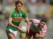 17 September 2017; David Clifford of Kerry in action against Pádraig McGrogan of Derry during the Electric Ireland GAA Football All-Ireland Minor Championship Final match between Kerry and Derry at Croke Park in Dublin. Photo by Piaras Ó Mídheach/Sportsfile