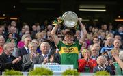 17 September 2017; Kerry captain David Clifford lifts the Tom Markham Cup after the Electric Ireland GAA Football All-Ireland Minor Championship Final match between Kerry and Derry at Croke Park in Dublin. Photo by Piaras Ó Mídheach/Sportsfile