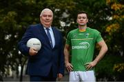27 September 2017; In attendance at the announcement of EirGrid as team sponsor for the International Rules side that will travel to Australia over the two-test series in November are Ireland International Rules manager Joe Kernan and player Conor McKenna. EirGrid is a state-owned company that operates the national grid in Ireland. EirGrid's task is to deliver a safe, secure and reliable supply of electricity now, and in the future Photo by Sam Barnes/Sportsfile