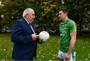 27 September 2017; In attendance at the announcement of EirGrid as team sponsor for the International Rules side that will travel to Australia over the two-test series in November are Ireland International Rules manager Joe Kernan and player Conor McKenna. EirGrid is a state-owned company that operates the national grid in Ireland. EirGrid's task is to deliver a safe, secure and reliable supply of electricity now, and in the future. Photo by Sam Barnes/Sportsfile