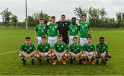 27 September 2017; The Republic of Ireland squad, back row, from left, Seamas Keogh, Cian Kelly, James Corcoran, Festy Ebosele, Conor Power, and front row, from left, Paddy Moore, Matt Everitt, Brandon Holt, Joe Hodge, Kian Leavy, and Oghenetega Agberhiere, before the International Friendly match between Republic of Ireland and Brazil at the AUL Complex in Dublin. Photo by Piaras Ó Mídheach/Sportsfile