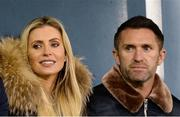 29 September 2017; Former Republic of Ireland international Robbie Keane and his wife Claudine during the Dublin County Senior Football Championship Quarter-Final match beween St Vincent's and St Sylvester's at Parnell Park in Dublin. Photo by Piaras Ó Mídheach/Sportsfile