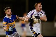 29 September 2017; Mark Vaughan of Kilmacud Crokes in action against Tom Quinn of Castleknock during the Dublin County Senior Football Championship Quarter-Final match between Castleknock and Kilmacud Crokes at Parnell Park in Dublin. Photo by Piaras Ó Mídheach/Sportsfile