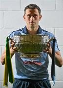 16 July 2012; Dublin footballer Alan Brogan, with the Delaney Cup, after a press conference ahead of his side's Leinster GAA Football Senior Championship Final game against Meath on Sunday. Croke Park, Dublin. Picture credit: Barry Cregg / SPORTSFILE