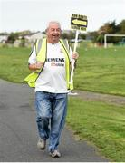 30 September 2017; Michael Walsh, from Darndale, Co Dublin, finishing the run. parkrun Ireland in partnership with Vhi, added their 79th event on Saturday, September 30th, with the introduction of the Darndale parkrun. parkruns take place over a 5km course weekly, are free to enter and are open to all ages and abilities, providing a fun and safe environment to enjoy exercise. To register for a parkrun near you visit www.parkrun.ie. New registrants should select their chosen event as their home location. You will then receive a personal barcode which acts as your free entry to any parkrun event worldwide. The Football Pavilion, Darndale, Dublin. Photo by Cody Glenn/Sportsfile