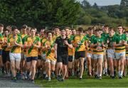 30 September 2017; Adam Burke leads his team towards the finish line during the Run for Adam Burke at Two Mile House GAA Club in Kildare. Photo by Ray McManus/Sportsfile