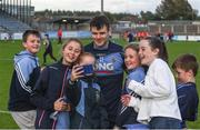 30 September 2017; Kevin McManamon of St. Judes poses for a selfie with young supporters following the Dublin County Senior Football Championship Quarter-Final match beween Cuala and St Jude's at Parnell Park in Dublin. Photo by David Fitzgerald/Sportsfile