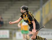 21 July 2012; Katie Power, Kilkenny, celebrates after scoring her side's first goal. All-Ireland Senior Camogie Championship Play-Off, Offaly v Kilkenny, St. Brendan's Park, Birr, Co. Offaly. Picture credit: Daire Brennan / SPORTSFILE