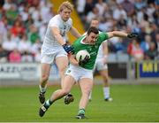 21 July 2012; Stephen Lucey, Limerick, in action against Tomas O'Connor, Kildare. GAA Football All-Ireland Senior Championship Qualifier, Round 3, Kildare v Limerick, O'Moore Park, Portlaoise, Co. Laois. Picture credit: Matt Browne / SPORTSFILE