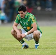21 July 2012; A disappointed Emlyn Mulligan, Leitrim, at the end of the game. GAA Football All-Ireland Senior Championship Qualifier, Round 3, Leitrim v Laois, Sean McDermott Park, Carrick-on-Shannon, Co. Leitrim. Picture credit: David Maher / SPORTSFILE