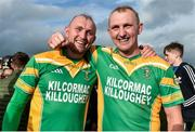 1 October 2017; Captain of Kilcormac-Killoughey, Peter Healion, right, with his twin brother Ger after the Offaly County Senior Hurling Championship Final match between St Rynagh's and Kilcormac-Killoughey at Bord na Móna Park in Tullamore, Co. Offaly. Photo by Matt Browne/Sportsfile