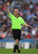 24 September 2017; Referee Garryowen McMahon during the TG4 Ladies Football All-Ireland Intermediate Championship Final match between Tipperary and Tyrone at Croke Park in Dublin. Photo by Brendan Moran/Sportsfile