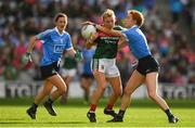 24 September 2017; Marie Corbett of Mayo in action against Lauren Magee of Dublin during the TG4 Ladies Football All-Ireland Senior Championship Final match between Dublin and Mayo at Croke Park in Dublin. Photo by Brendan Moran/Sportsfile