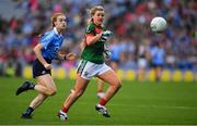 24 September 2017; Fiona McHale of Mayo in action against Lauren Magee of Dublin during the TG4 Ladies Football All-Ireland Senior Championship Final match between Dublin and Mayo at Croke Park in Dublin. Photo by Brendan Moran/Sportsfile