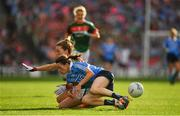 24 September 2017; Sinéad Aherne of Dublin in action against Sarah Tierney of Mayo during the TG4 Ladies Football All-Ireland Senior Championship Final match between Dublin and Mayo at Croke Park in Dublin. Photo by Brendan Moran/Sportsfile