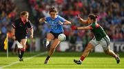 24 September 2017; Niamh McEvoy of Dublin in action against Martha Carter of Mayo during the TG4 Ladies Football All-Ireland Senior Championship Final match between Dublin and Mayo at Croke Park in Dublin. Photo by Brendan Moran/Sportsfile