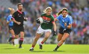 24 September 2017; Cora Staunton of Mayo in action against Niamh Collins of Dublin during the TG4 Ladies Football All-Ireland Senior Championship Final match between Dublin and Mayo at Croke Park in Dublin. Photo by Brendan Moran/Sportsfile