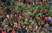 24 September 2017; Mayo fans during the TG4 Ladies Football All-Ireland Senior Championship Final match between Dublin and Mayo at Croke Park in Dublin. Photo by Brendan Moran/Sportsfile