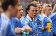 24 September 2017; Leah Caffrey of Dublin prior to the TG4 Ladies Football All-Ireland Senior Championship Final match between Dublin and Mayo at Croke Park in Dublin. Photo by Brendan Moran/Sportsfile