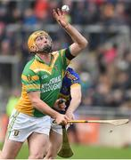 1 October 2017; Peter Healion of Kilcormac-Killoughey in action against Dermot Shortt of  St Rynagh's during the Offaly County Senior Hurling Championship Final match between St Rynagh's and Kilcormac-Killoughey at Bord na Móna Park in Tullamore, Co. Offaly. Photo by Matt Browne/Sportsfile