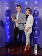 2 October 2017; Limerick's Cian Lynch with Shauna Quirke at the Bord Gáis Energy Team of the Year Awards in Croke Park. Photo by Piaras Ó Mídheach/Sportsfile