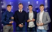 2 October 2017; Bord Gáis Energy Judge Joe Canning, second from left, with Galway winners, from left, Conor Whelan, Sean Loftus, and Thomas Monaghan at the Bord Gáis Energy Team of the Year Awards in Croke Park. Photo by Piaras Ó Mídheach/Sportsfile