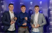 2 October 2017; Galway winners, from left, Sean Loftus, Conor Whelan and Thomas Monaghan at the Bord Gáis Energy Team of the Year Awards in Croke Park. Photo by Piaras Ó Mídheach/Sportsfile