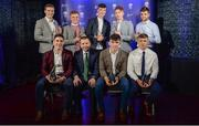 2 October 2017; In attendance at the Bord Gáis Energy Team of the Year Awards are Limerick winners, back row from left, Ronan Lynch, Peter Casey, Kyle Hayes, Cian Lynch and Colin Ryan. Front row, from left, Sean Finn, Limerick manager Pat Donnelly, Aaron Gillane and Robbie Hanley, in Croke Park. Photo by Piaras Ó Mídheach/Sportsfile